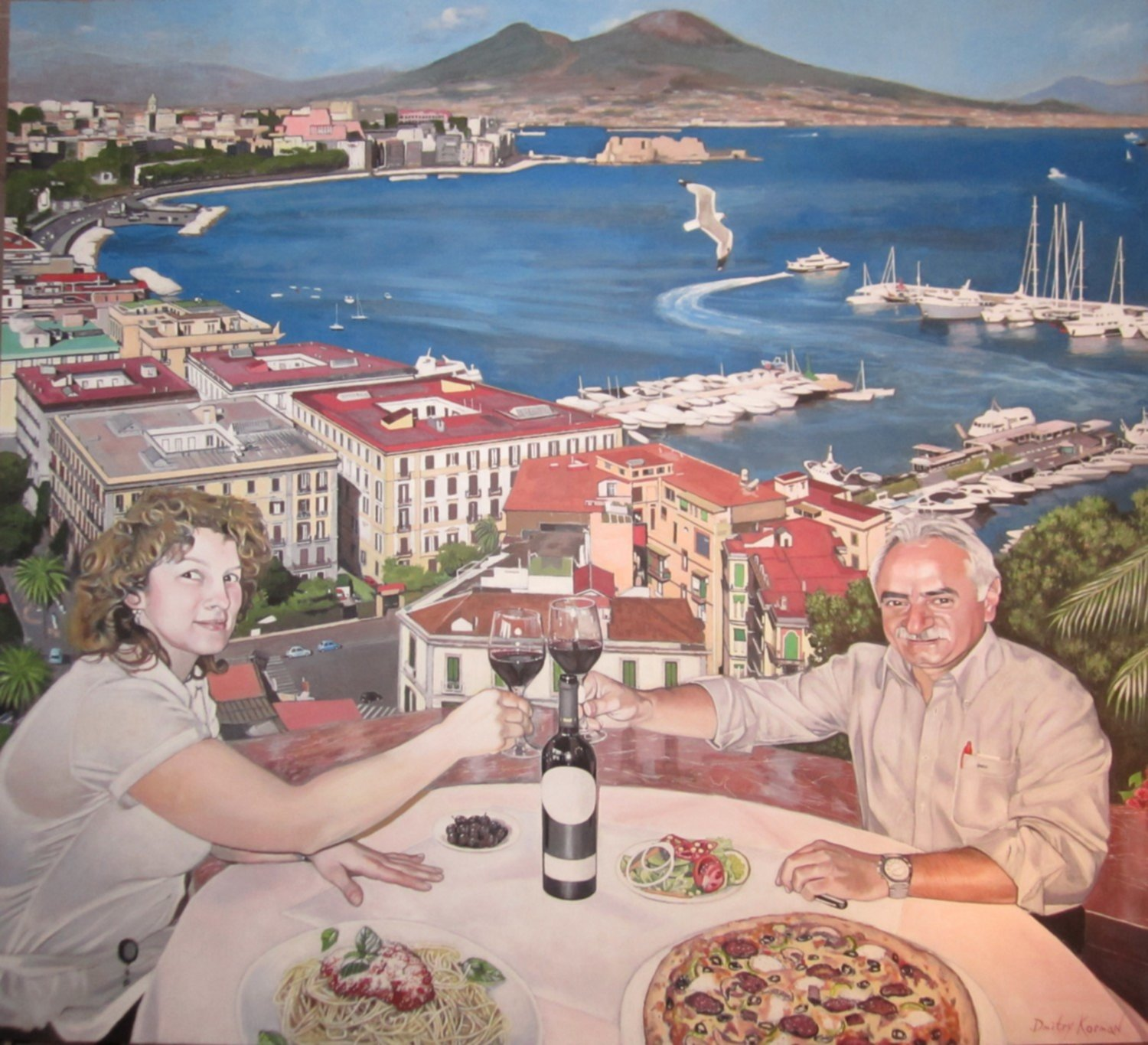 Mural in the restaurant L'Europa, Geneva,  Switzerland