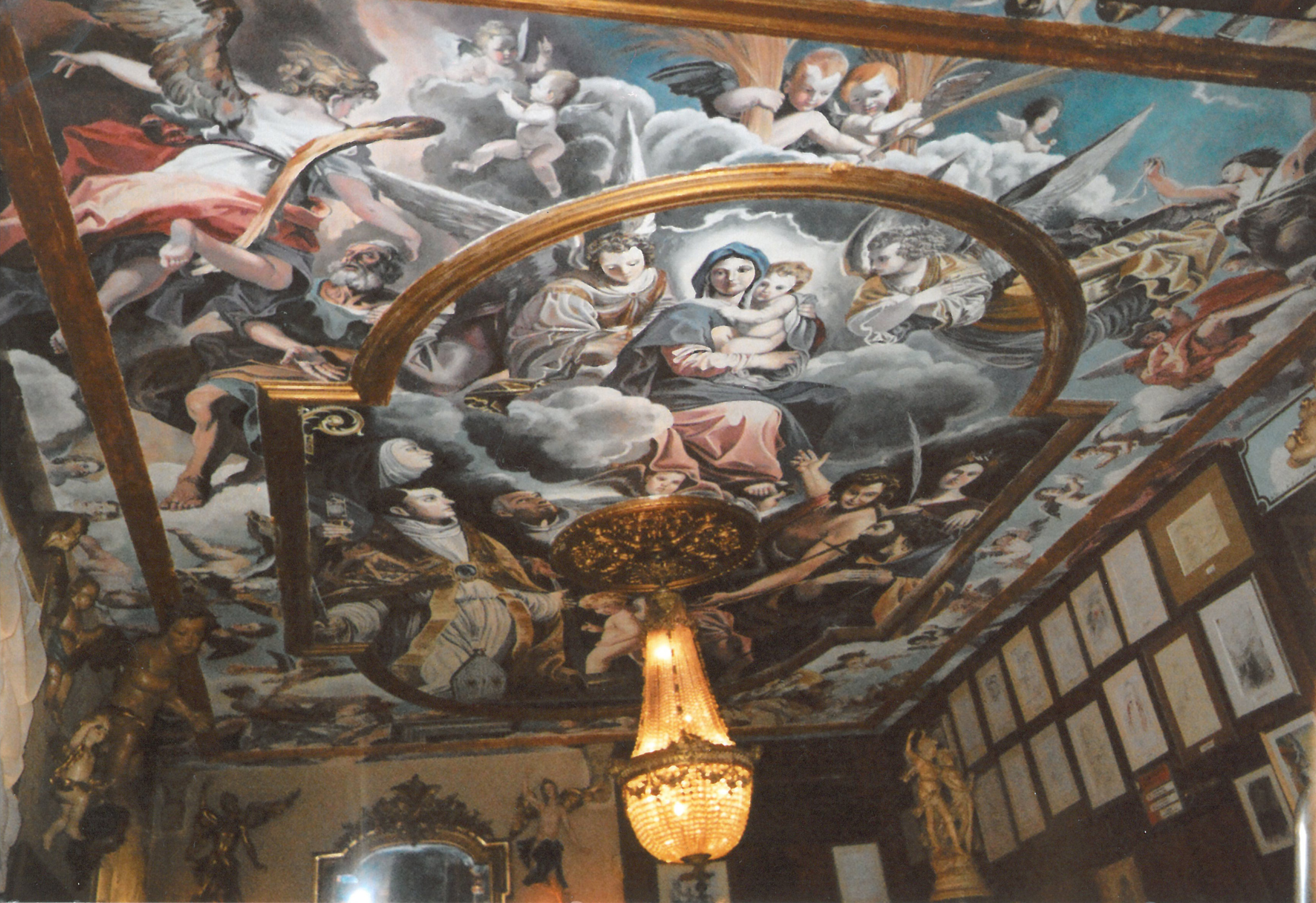 Ceiling mural in the restaurant Napoli Da Gerardo, Zurich,  Switzerland