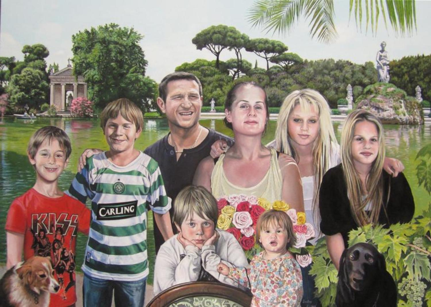 Portraits of Gerardo and his family