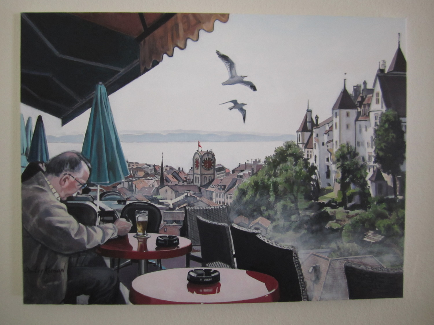 Neuchâtel, Switzerland, acrylic on canvas