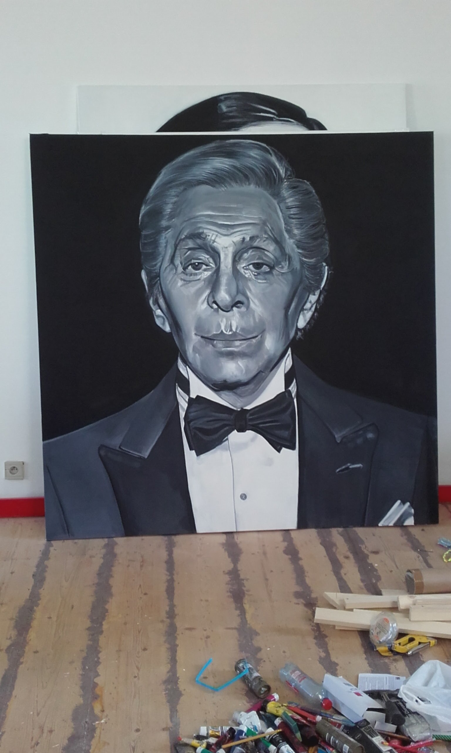 Portrait of Valentino for the restaurant I Migliori, Antwerp, Belgium
