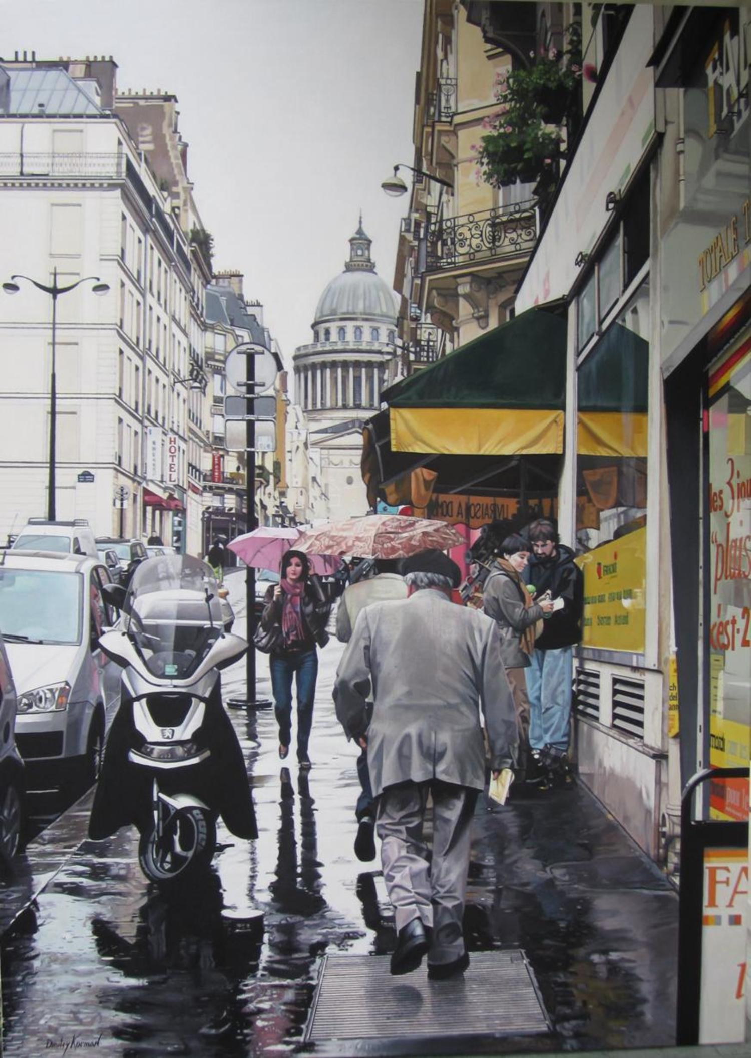 Rue des Carmes,  Paris. Acrylic on canvas